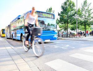 bicycle in bus lane